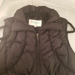 Nine west puffer down vest zip up